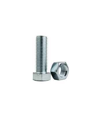 Steel Carriage Bolts with Nuts (10-Pack)