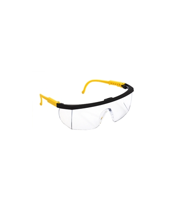 Yellow Temple Accents with Clear Lenses Eye Protector